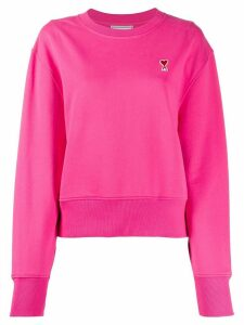 Ami Paris Ami De Coeur Patch Sweatshirt - PINK