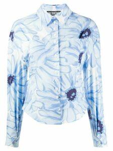 Jacquemus Jean floral print cut-out shirt - White