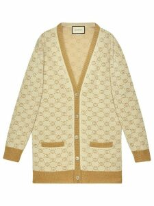 Gucci GG pattern buttoned cardigan - NEUTRALS