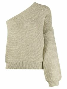 LIU JO one shoulder knitted top - GOLD