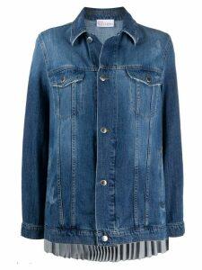RedValentino pleated back denim jacket - Blue