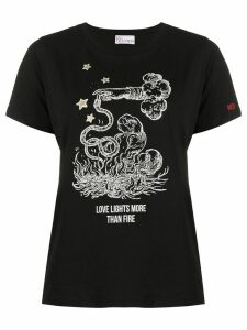 RedValentino Love Lights more than Fire print T-shirt - Black