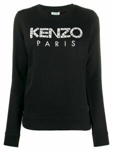 Kenzo logo-appliqué sweatshirt - Black