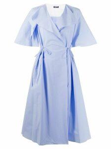 Jil Sander Navy V-neck flared dress - Blue