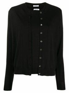 P.A.R.O.S.H. button-up crew neck cardigan set - Black