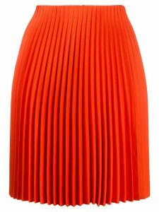 Theory straight fit pleated skirt - ORANGE