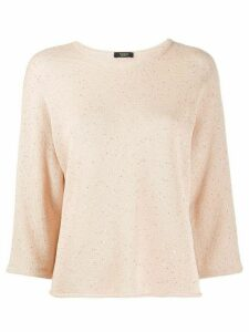 Peserico sequin-embroidered jumper - PINK