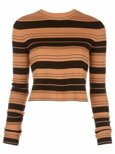 Proenza Schouler White Label striped cropped jumper - Brown