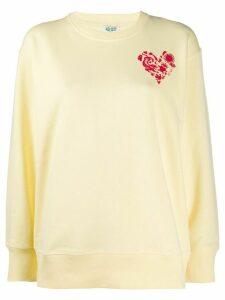 Kenzo heart crest-print sweatshirt - Yellow