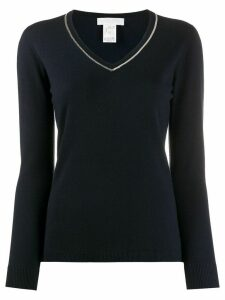 Fabiana Filippi bead-embellished T-shirt - Blue