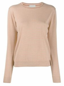 Forte Forte striped-print crew neck top - ORANGE