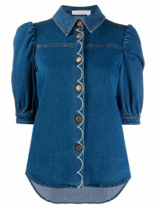 See by Chloé half-sleeve denim shirt - Blue