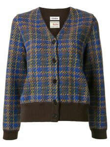 Coohem Madras tech tweed cardigan - Blue