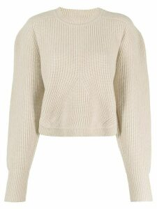 Isabel Marant Jullian balloon-sleeved sweater - NEUTRALS