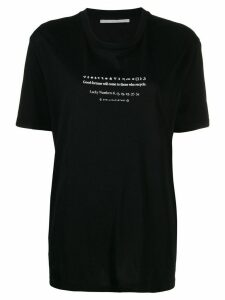 Stella McCartney slogan oversized T-shirt - Black