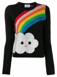 Alice+Olivia long sleeve embellished rainbow sweater - Black