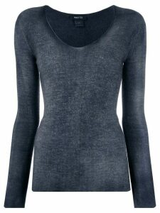 Avant Toi fine knit long sleeve top - Blue