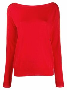 P.A.R.O.S.H. knitted boat-neck jumper - Red