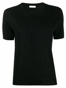 P.A.R.O.S.H. short-sleeve fitted jumper - Black