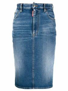 Dsquared2 mid-length pencil denim skirt - Blue