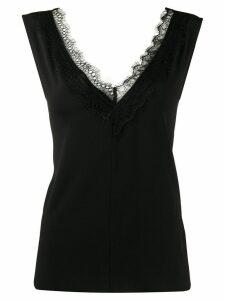 LIU JO sleeveless scalloped lace blouse - Black