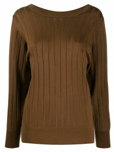 Agnona ribbed jumper - Brown