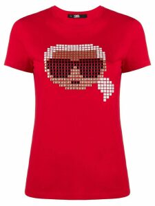 Karl Lagerfeld Karl Pixel T-shirt - Red