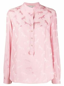 Stella McCartney horse pattern blouse - PINK