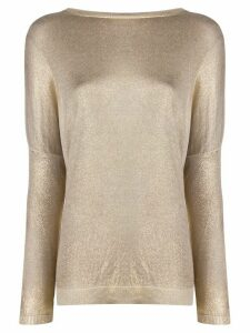 Avant Toi dropped shoulder knitted top - GOLD