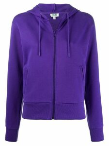 Kenzo logo-print hooded sweatshirt - PURPLE