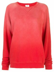 Re/Done ombré oversized sweatshirt - Red