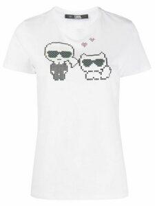 Karl Lagerfeld Karl Pixel Choupette T-Shirt - White