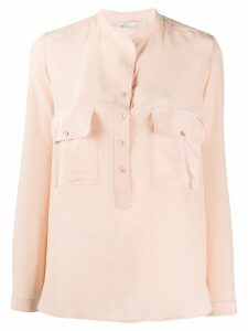 Stella McCartney flap and button pocket blouse - PINK