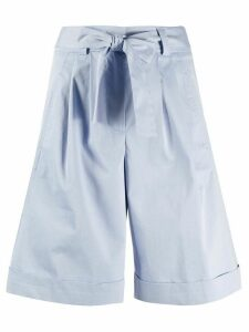 Peserico belted tailored shorts - Blue
