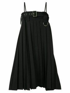 We11done pleated adjustable dress - Black