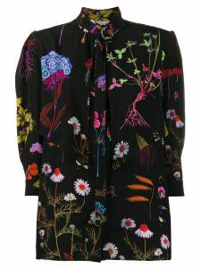 Stella McCartney flower print silk blouse - Black