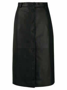 Remain buttoned straight skirt - Black