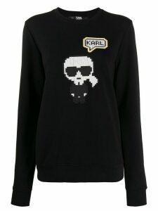 Karl Lagerfeld Karl Pixel sweatshirt - Black