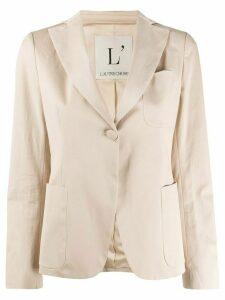 L'Autre Chose one-button fitted blazer - NEUTRALS