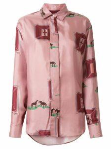 Victoria Beckham horse print shirt - PINK