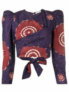 Ulla Johnson Eden abstract-print blouse - Blue
