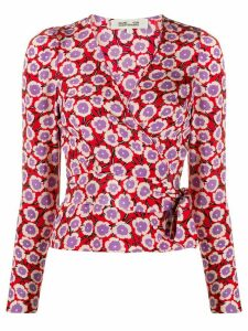 DVF Diane von Furstenberg wrap front Alexia blouse - Red