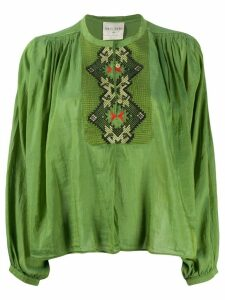 Forte Forte button down embroidered shirt - Green