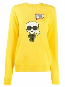 Karl Lagerfeld Karl Pixel sweatshirt - Yellow