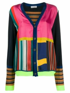 Pierre-Louis Mascia colour block v-neck cardigan - Blue