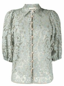 Semicouture sheer lace shirt - Blue