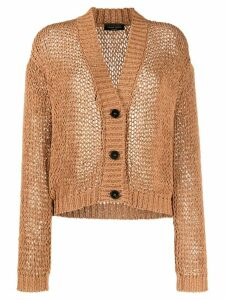 Roberto Collina oversized fit cardigan - Brown