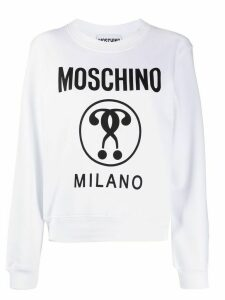 Moschino Double Question Mark sweatshirt - White