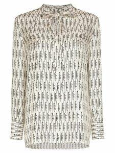 Valentino signature print blouse - White