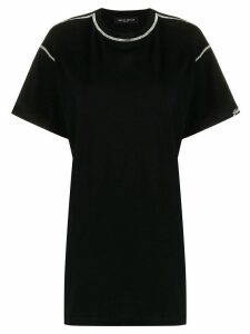 Frankie Morello cut-out crystal-embellished T-shirt - Black